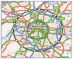 Map of Manchester congestion zone