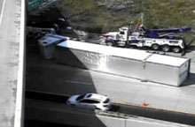 I-94 Truck Rollover picture 1