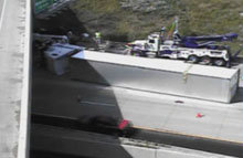 I-94 truck rollover picture 2