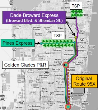 Phase 1 Transit Improvements map