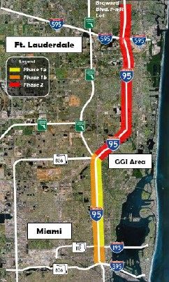 Miami UPA (I-95) map