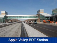 Apple valley BRT Station