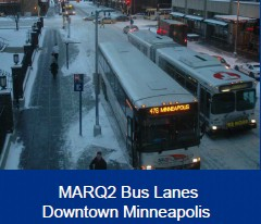 MARQ2 Bus Lanes, Downtown Minneapolis