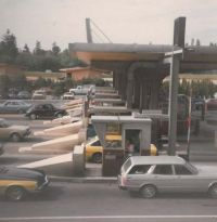 Cars at tolling station