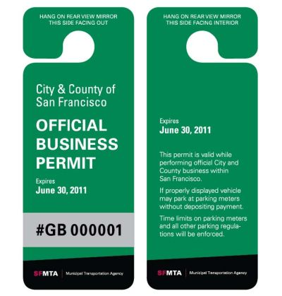 Business parking permits