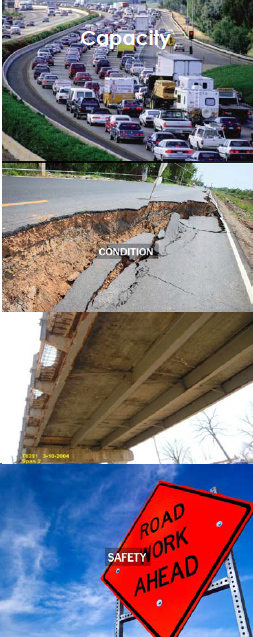 collage of various infrastructure issues