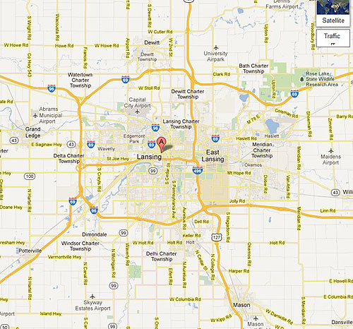 map of lansing michigan bnhspinecom