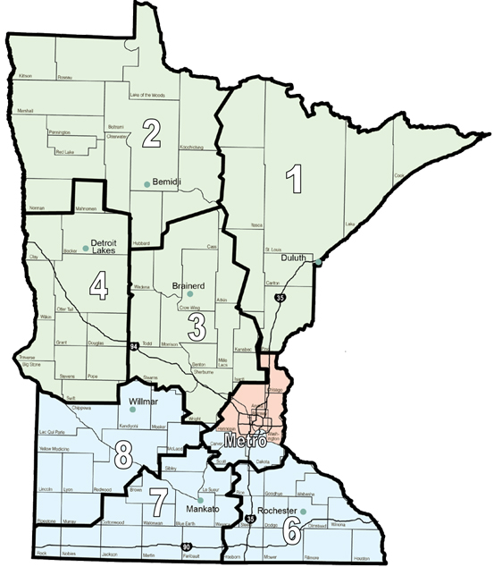 Area Engineers and Districts Minnesota Division – Mn Dot Travel Map