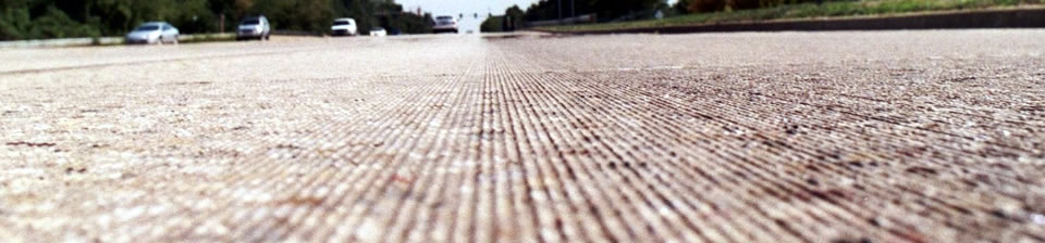 Concrete Pavement Surface After Diamond Grinding