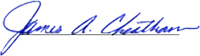 Signature of James A. Cheatham
