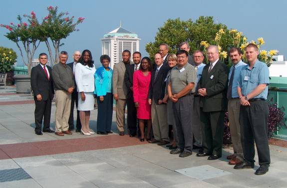Workshop Participants on the deck of the RSA Plaza with Congressman Artur Davis of the 7th District of Alabama