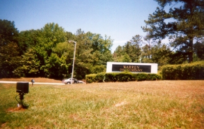 photo of the Warren Oil Company office park entrance on Route 80