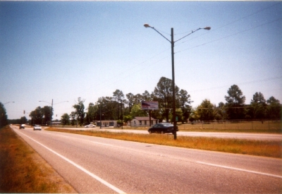 photo of a four lane divided highway