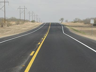 photo of a two lane highway