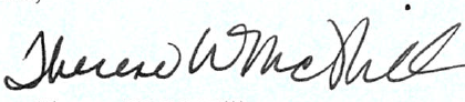 Signature: Therese W. McMillan