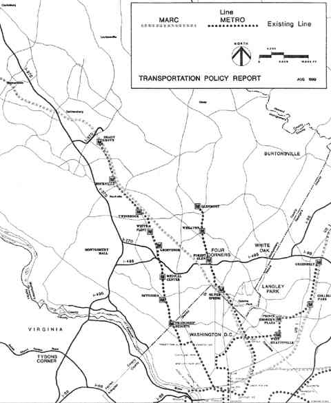 Fig. 2 Existing Transportation Network, Montgomery County