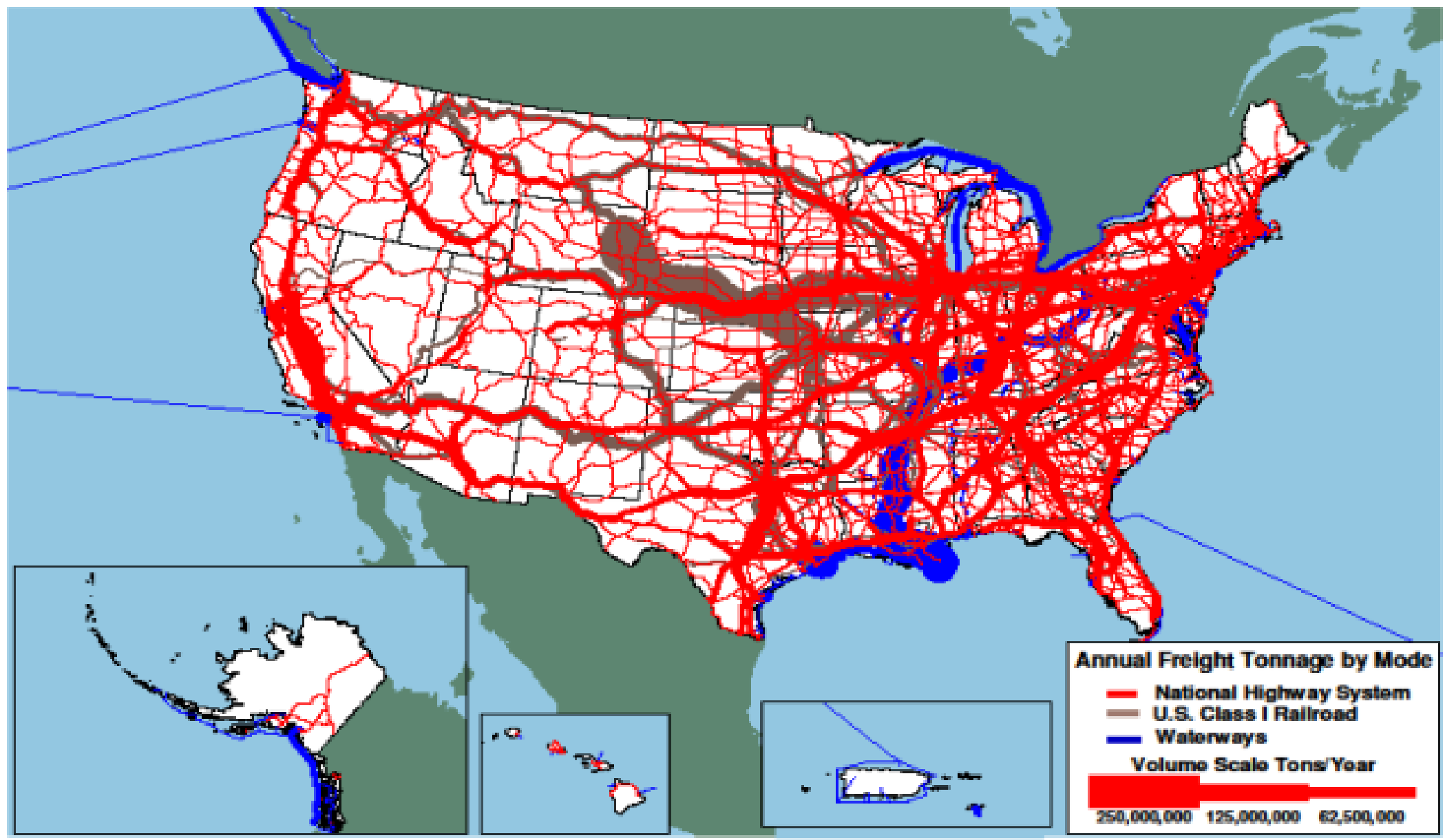 Chapter  Personal Travel And Freight Movement  Conditions - Us railroad traffic map