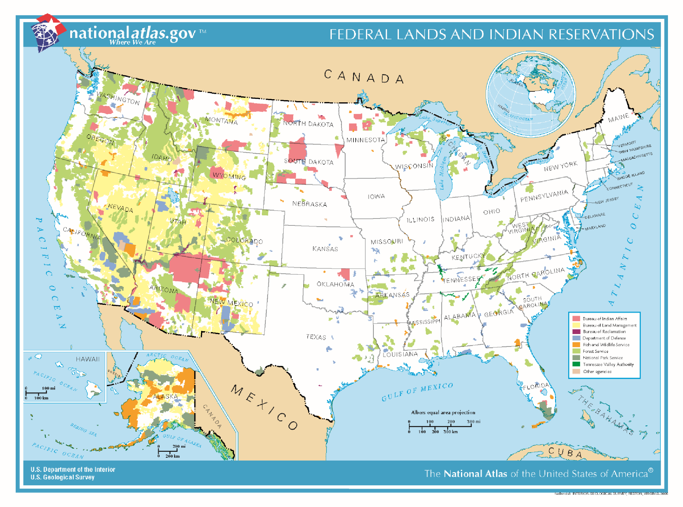 Chapter Transportation Serving Federal And Tribal Lands - Map of us tribal lands