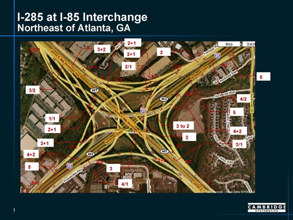 Map Of I 85 Georgia.Application Of Detailed Interchange Analysis To Top Freight