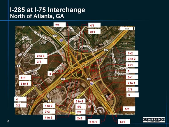 Application Of Detailed Interchange Analysis To Top Freight - Georgia map i 75