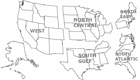 Click here for list of states by region