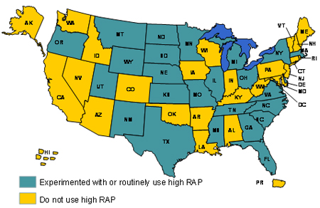 Use States Map.Chapter 2 Reclaimed Asphalt Pavement In Asphalt Mixtures State Of