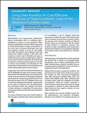 Index - Using Data Analytics for Cost-Effective Prediction