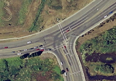 The picture shows a  T Intersection