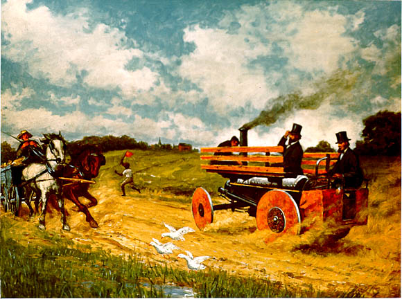 Dudgeon S Steam Carriage 1866 Paintings Of Carl