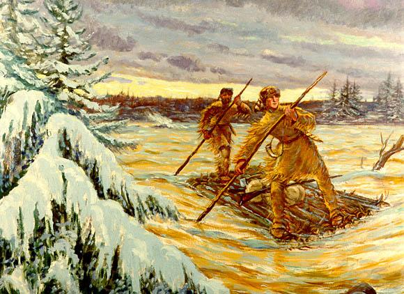 1753 - Washington Crossing the Allegheny