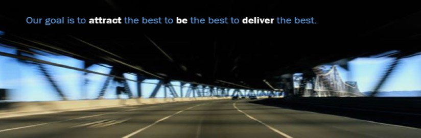 Tagline: Our goal is to attract the best to be the best to deliver the best