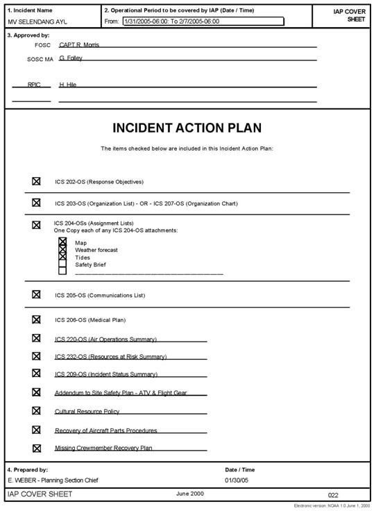Screen Capture Of An IAP Cover Sheet Containing Information About What Is  Included In The Plan